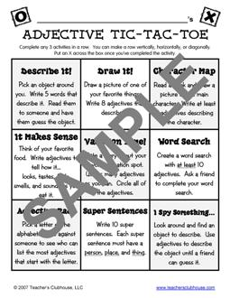 tic tac toe template for teachers - tic tac toe homework template dissertationsinternational
