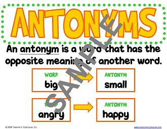 Worksheets Examples Of Antonyms example of antonyms rupsucks printables worksheets grammar skills resources from teachers clubhouse view sample