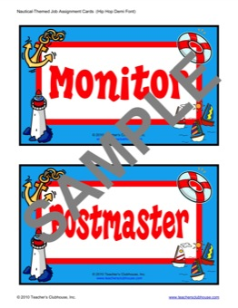 Mon Classroom Job Cards Plus Blank Card Provided Pdf