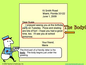 Writing A Friendly Letter Lessons Tes Teach