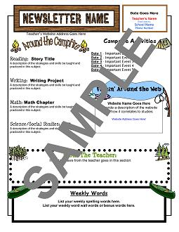 Templates From Teachers Clubhouse - Summer newsletter template