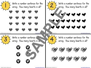how to write a number sentence for the array