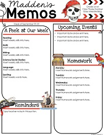 Classroom theme resources from teachers clubhouse view sample add to cart pirates themed slideshow toneelgroepblik Images
