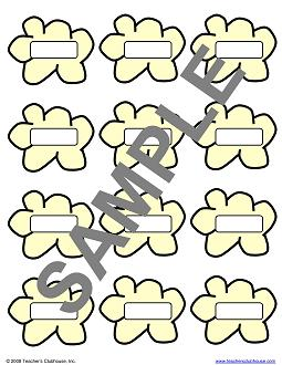 Printable popcorn kernel template just b cause for Popcorn kernel coloring page