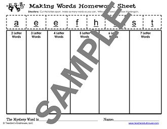 Word Study Resources from Teacher s Clubhouse